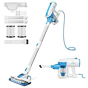 Offer MOOSOO Vacuum Cleaner with LED Electric Brush Stick Vacuum...