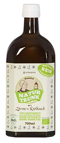 OHNE Konservierungssoffe! Renates NaturTrunk N° 1 Zitrone + Knoblauch, 1 x 700ml, PZN 04712890, DE-ÖKO-006