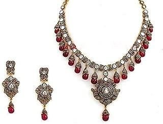 costozon uncut necklace 39.25 Tcw Ruby Rose Cut Diamond 925 Sterling Silver vintage jewelry