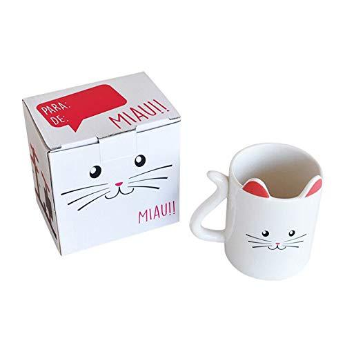 Ayomi Cute Animal Katze mit Ohren Tasse Kaffee Tee Milch Keramik Geschenk Tasse
