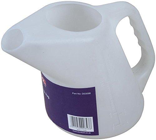 Duratool - Caraffa graduata, 5 l, contenitore in plastica, gamma di prodotti Duratool - Brocche dosatrici, volume di stoccaggio 5 l, stoccaggio liquido