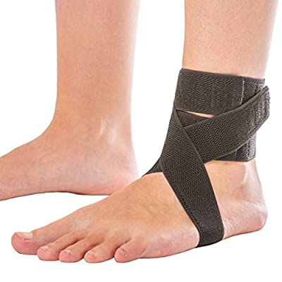 Plantar Fasciitis Day Ankle Brace | Daytime Splint with Heel Strap That Fits in Shoe for Peroneal Tendonitis Support, Foot Arch Pain Relief, PTTD, Achilles Tendonitis, and Sprains (Universal)