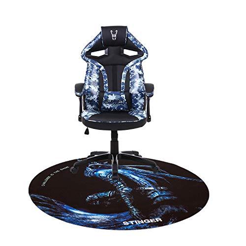 Woxter Stinger Station Army Blue - Silla Gaming(Racing) Eje de Acero +Alfombrilla Gaming de...