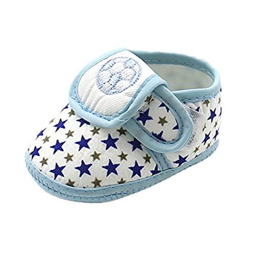 Nyuiuo Recién Nacido Infantil Bebés Y Niños Niñas Suela Suave Zapatos Planos Cálidos Zapatos Bebé con Estampado Estampado De Fútbol Pentagram Zapatos De Fondo Suave Zapatos De Lona Antideslizantes