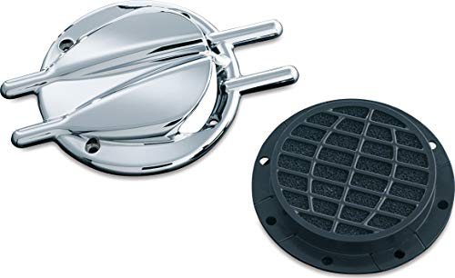 Kuryakyn 8498 Motorcycle Air Cleaner/Filter Component: Stinger Vented Trap Door for Standard Hypercharger Air Cleaners, Chrome