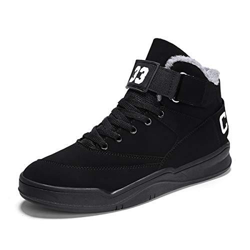 FZUU 2017 Hip Hop Mann Straßen Schuh Schuhe Sneaker 43 EU, Schwarz P65