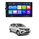 AYW 7 INCH Double Din Car Screen Stereo Media Player Audio Video Touch Screen Stereo Full HD with MP3/MP4/MP5/USB/FM Player/WiFi/Bluetooth & Mirror Link Universal for All Car