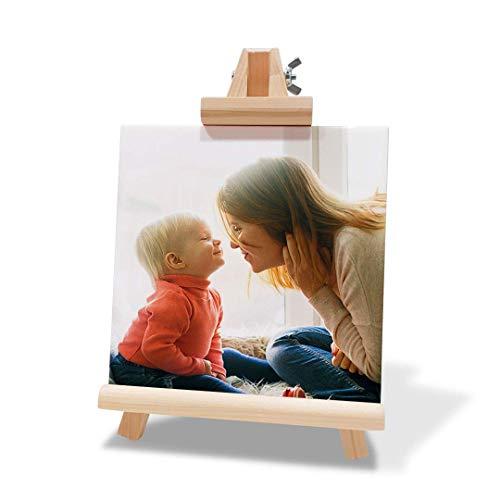 Kadoo Regalos Portafotos de Azulejo Personalizado con Fotos, Texto o Diseño