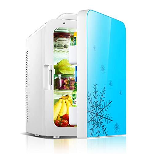 Mini Refrigeradores De Camping 12V / 220V Mini Refrigerador Silencioso 20L De Capacidad, Refrigerador Pequeño para Espacio para Cosméticos Refrigeración Mínima -5 Grados,Azul,Single Core