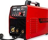 SUSEMSE Poste à souder 3 en 1 MIG235, MIG/TIG/MMA poste à souder inverter technologie IGBT d'affichage numérique DC 200A (Rouge)