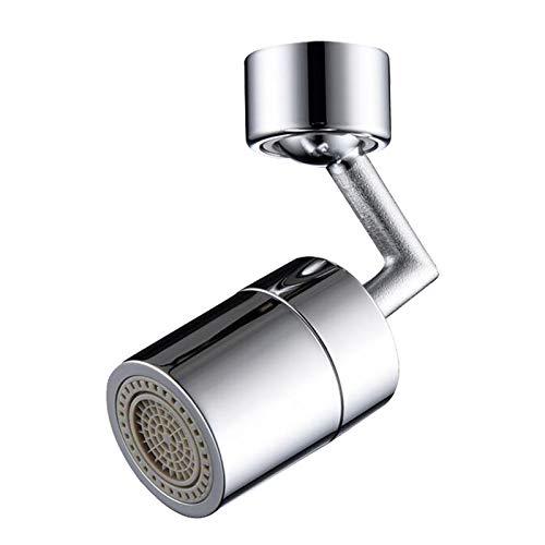 MGET Extensor de grifo giratorio de 720 grados, universal a prueba de salpicaduras, grifo de ahorro de agua Adecuado para roscas externas de 21,5 a 22 mm de diámetro (5,9 × 3,1 × 2 pulgadas)