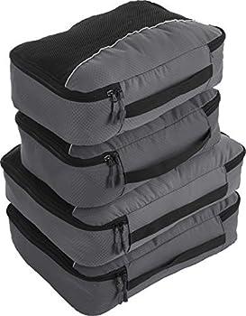 Bago 4 Set Packing Cubes for Travel - Luggage & Suitcase Organizer - Cube Set  2Large+2Medium Grey