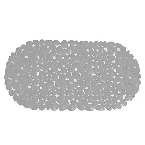 MSV Tapis de Baignoire Galets en PVC-68x35 cm-Blanc, 100% PVC, 80 x 150 cm