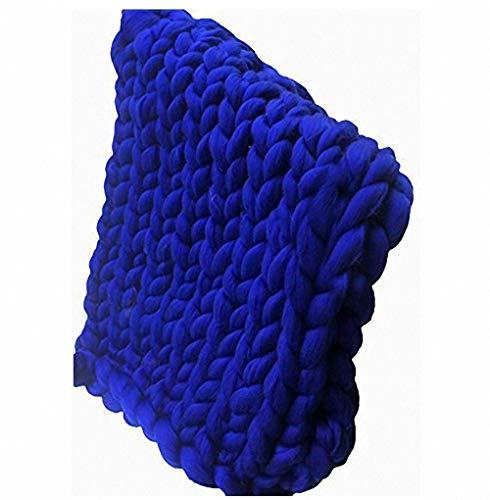 Miarui Gebreide knuffeldeken, handgemaakte Chunky Super grote handgeweven deken, super grote luxe breien, sprei, sprei, sprei, deken voor huisdier, bed of bank