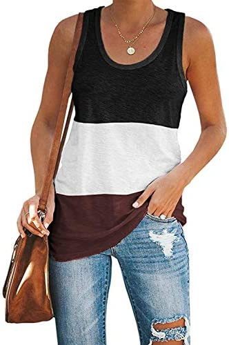 OURS Basic Tank Tops Sleeveless Racerback Sport Cotton Top for Women Black XL product image