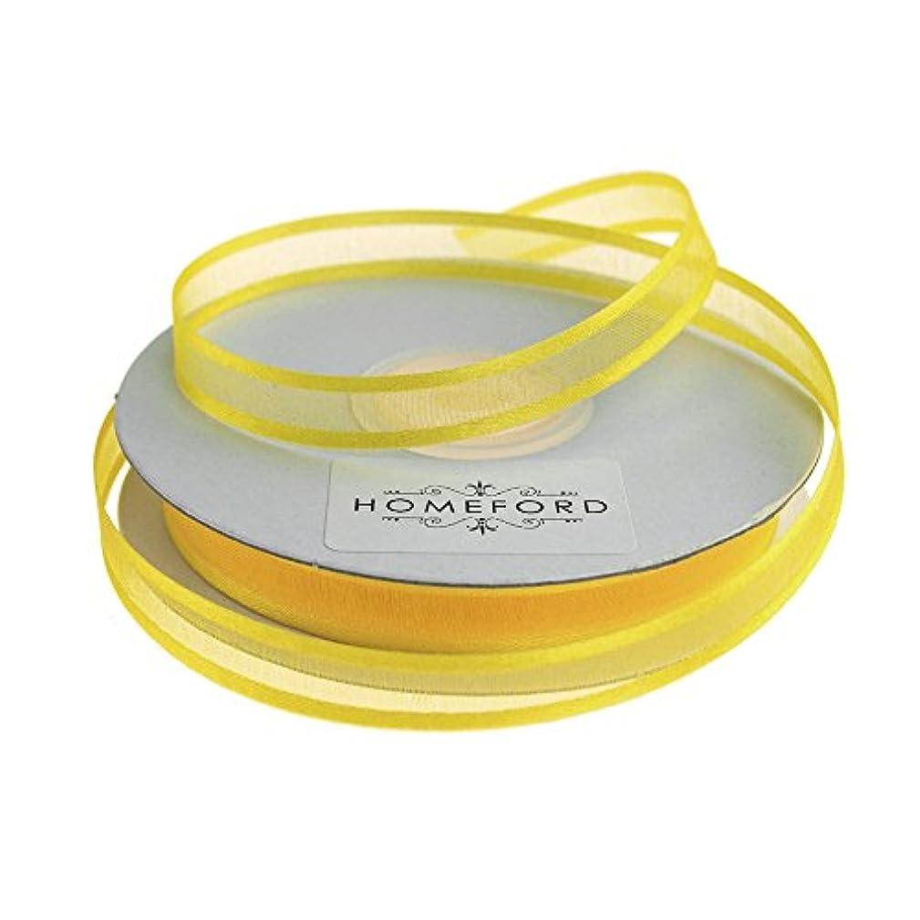 Homeford FCR000SES0308640 Satin-Edge Sheer Organza Ribbon 3/8-Inch Canary Yellow