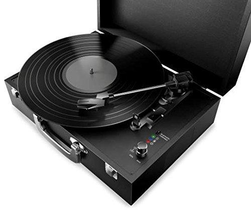 Polaroid Portable Bluetooth Turntable for Vinyl and Wireless Devices Black NIB