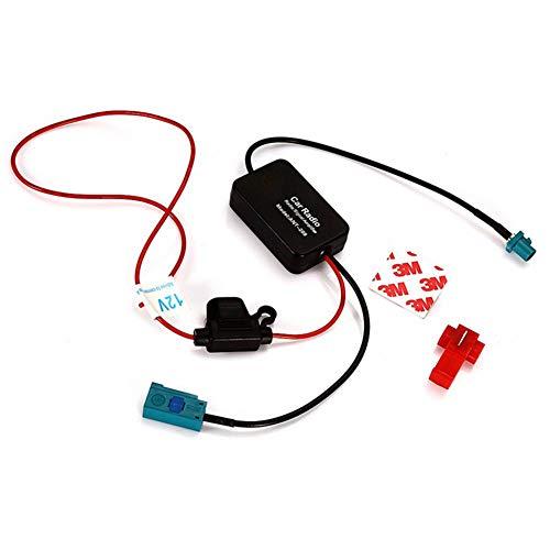 Amplificatore segnale auto Amplificatore autoradio Antenna stereo per auto 12V Regolazione frequenza auto Amplificatore ricezione segnale antenna radio Amplificatore del segnale dell'autoradio