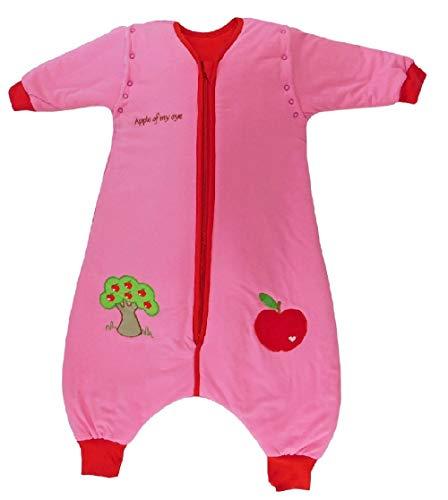 Saco de dormir Slumbersac para niño con pies y mangas largas desmontables Grosor 2.5 -Manzana Roja - 5-6 años/120cm