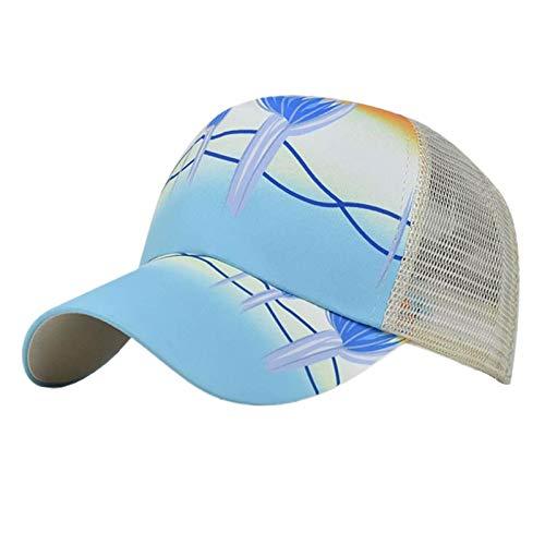 Hemisgin Cross Mesh Sol Hat Sombrero de la Cola de Caballo Sombrero de Sol de protección Sol Gorra de béisbol Ajustable Unisex Malla Camionero Sombrero desordenado Intelligent