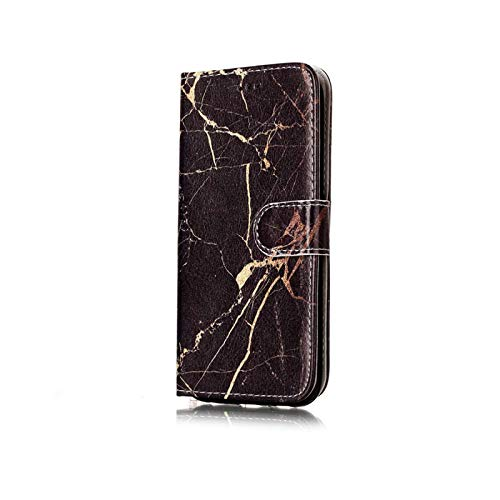 Carcasa para Samsung Galaxy A7 A20, A20E, A30, A40, A50, A60, A70, S10, S9 y S8 Plus, tarjetero, color negro dorado