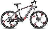 Bicicletas Eléctricas, 26 '' bicicletas eléctricas bicicleta de montaña Fat Tire E-Bici deportes de montaña de doble suspensión con 27 Speed Gear y tres...