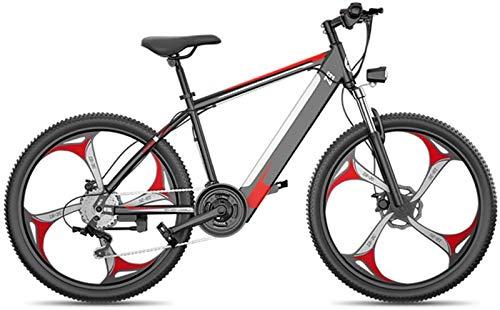 Bicicletta Elettrica, Elettrico Mountain bike, da 26 pollici Fat Tire ibrida sospensione della bici di montagna E-Bike completa, 27 freni a disco meccanici Power System Speed Lock Forcella anteriore