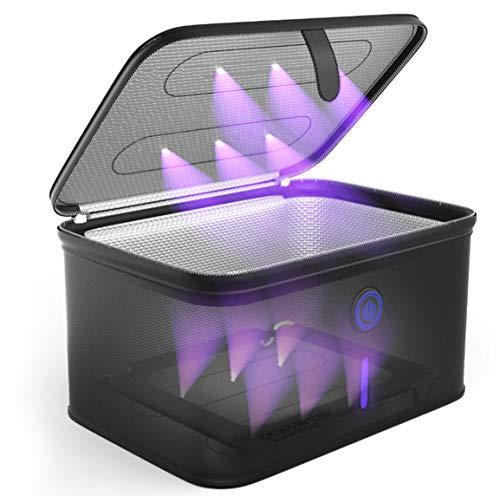 Doctor's Choice UV Sanitizer Box. Personal UV Sterilizer Box. Large UV Light Sanitizer Box fits Masks, Phones, Sleep Aid, Glasses, Bottles, Toothbrush, Pacifier.