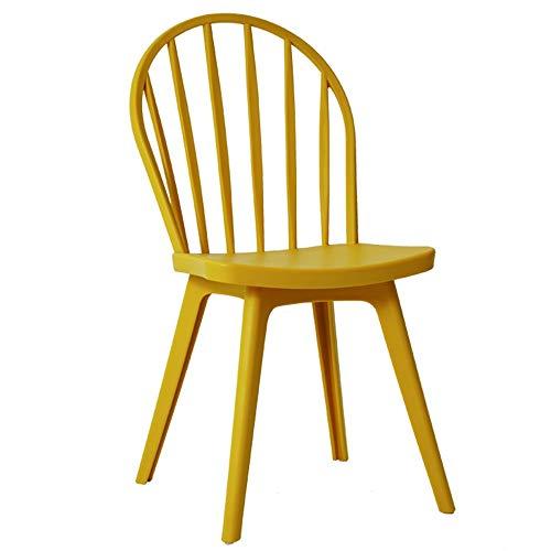 LJFYXZ Sillas de Comedor Silla de casa Windsor Asiento Trasero Alto Capacidad de Carga 260 lbs. Apto para Cocina, Comedor, Sala de Estar. (Color : Yellow)