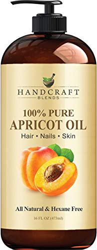 Handcraft Pure Apricot Kernel Oil - 100% Pure And Natural - Premium Quality Cold Pressed Carrier Apricot Oil for Aromatherapy, Massage and Moisturizing Skin - Huge 16 fl. oz - Packaging May Vary