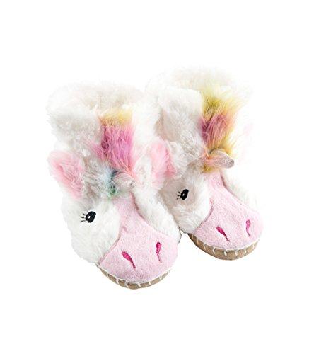 Hatley Girls' Big Kids Hi-top Slouch Animal Slipper, Unicorn, X-Large (1-2)