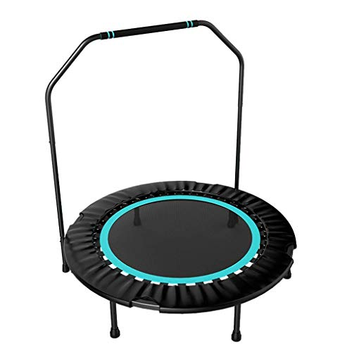 LuoMei Children's Trampoline Folding Trampoline Gym Household Kids Indoor Bounce Small Trampoline Weight Loss Jumping Bed Trampoline with Armrests Indoor Trampolineice Lake Blue