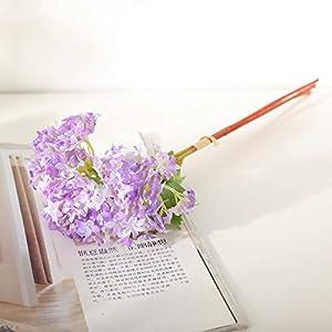 Aohi WXQ-XQ Artificial Flower Home Decor High-Grade Hydrangea Artificial Flower Mini Hydrangea Fake Flower Mini Snowball Flower (5Pcs) Artificial Flower