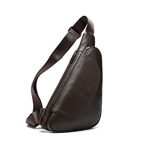 RTDotey Men's Leather Belt Bag Multi Daypack Shoulder Case Crossbody Bag Triangle Message Bag,4