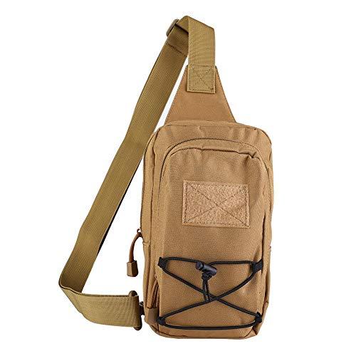 Fishlor Reiten Diagonale Paket, Unisex-Reiten Messenger Kampagne Brusttasche Schulter für Outdoor-Sportarten(Schlamm)