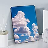Jokerzi Patrón De Cielo Azul Caja Magnética Suave Silicona Trasera Flip Stand Cubierta Protectora para Kindle J9G29R 10Th 2019 Nuevo para Kindle Paperwhite 4/3/2, para J9G29R