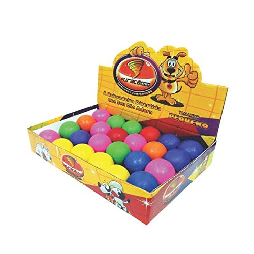 Brinquedo Bola Para Cães Borracha Maciça 45mm Caixa com 24 unidades