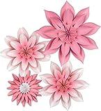 Teacher Created Resources Flores de papel de flores rosas, decoraciones prefabricadas para fondos de fotos de fiestas, aulas, fiestas y celebraciones de cumpleaños (TCR8543)