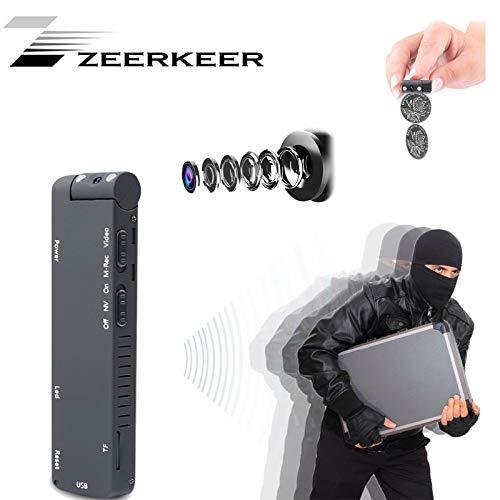 Zeerkeer Mini de vigilancia Mini Cámara Sport DV Cámara con Sensor de Movimiento, 32 GB - Grabadora DV con HD de Objetivo para casa y Oficina Seguridad
