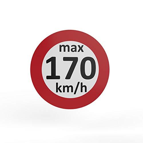 AUPROTEC - Pegatinas de velocidad para neumáticos de invierno (160-240 km/h, 25 unidades, 170 km/h)