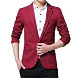 CLOOM Blazer Uomo, Blazer Uomo Slim Fit, Blazer d'Affari Outwear, Elegante Blazer Giacca d...