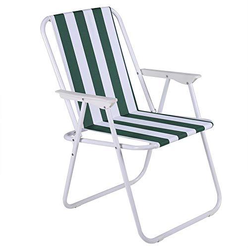 Tragbarer Strand-Klappstuhl für Picknick, Outdoor Angeln, Camping,Lagerfeuer, Sportveranstaltungen für Kinder oder Musikfestival in wenigen Sekunden 65 x 53 x 8 cm