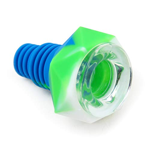 M13 Silicone Herb Bowl 14mm/18mm Dual Use Unbreakable Holder Diamond Design Blue/Green/White