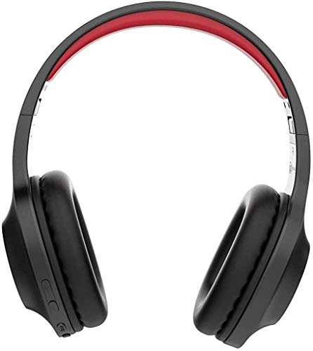 Lenovo Audio HD116 Wireless Headphones, 24 Hours Playtime, Bluetooth 5.0, IPX5 Sweat and Water Resistant, Microphone, Extra Bass Mode, Soft Carry Pouch, Red