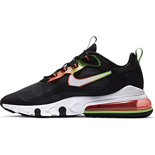 Nike Air Max 270 React WW, Scarpe da Corsa Uomo, Black White Green Strike Flash Crimson, 46 EU
