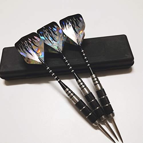 BETOY 3 Stück Dartpfeile Metallspitze Darts Set, Dart Pfeile mit Aluminium Darts Schäfte, 3 Darts schäfte + 1 Plastik Koffer, 22 Gramm
