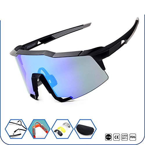 34GYP Big Lens Cycling Glasses Sports Sunglasses Outdoors Mountain Climbing Fishing Glasses Now Bikeing Sports Sunglasses Cycling Glasses Gyp (Color : Black)