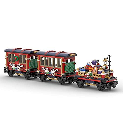 LALAmi Juego de construcción de tren de la serie Christmas con dos carritos, modelo Moc-79236 10254, modelo compatible con Lego