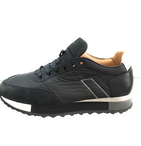 Frau 23B1, Sneaker Uomo City Running in Tessuto e Pelle (44 EU, Blu/Grey)