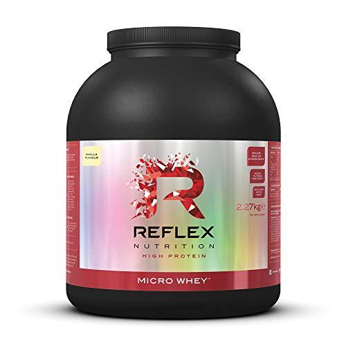 Reflex Nutrition Micro Whey Isolate Protein Powder 85% Protein Content Low in Sugar 26g Protein (Vanilla) (2.27kg)
